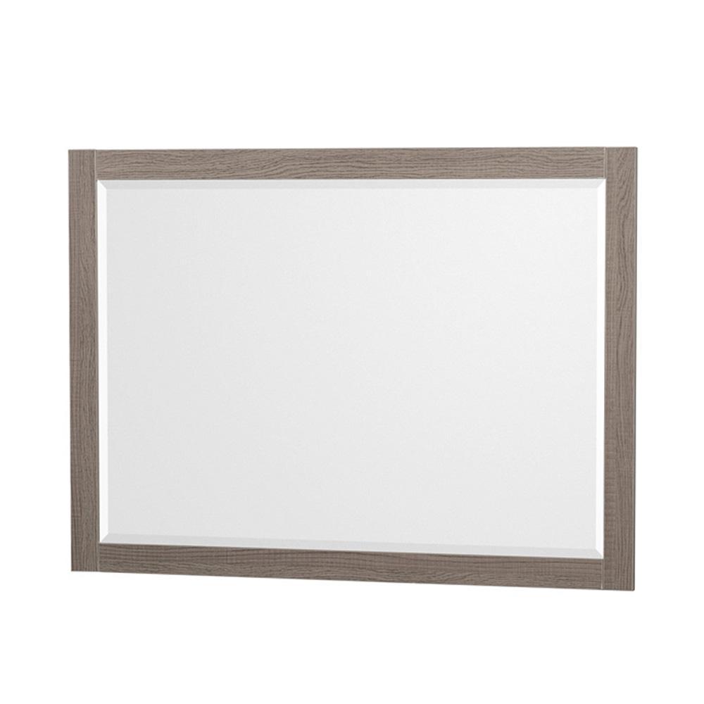 Amare 46 in. W x 33 in. H Framed Wall Mirror in Gray Oak