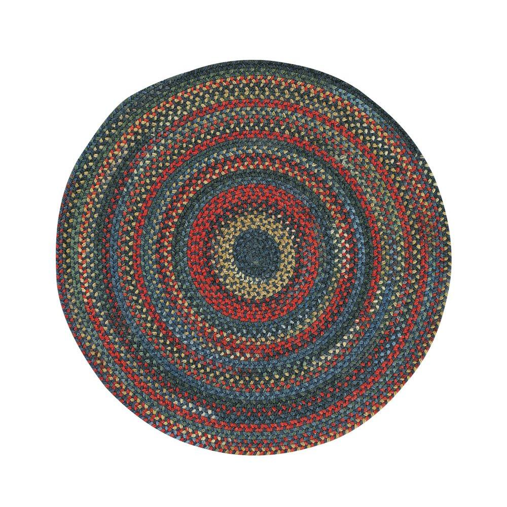 Capel Star Gold Blue Jay 7 ft. 6 in. Round Area Rug