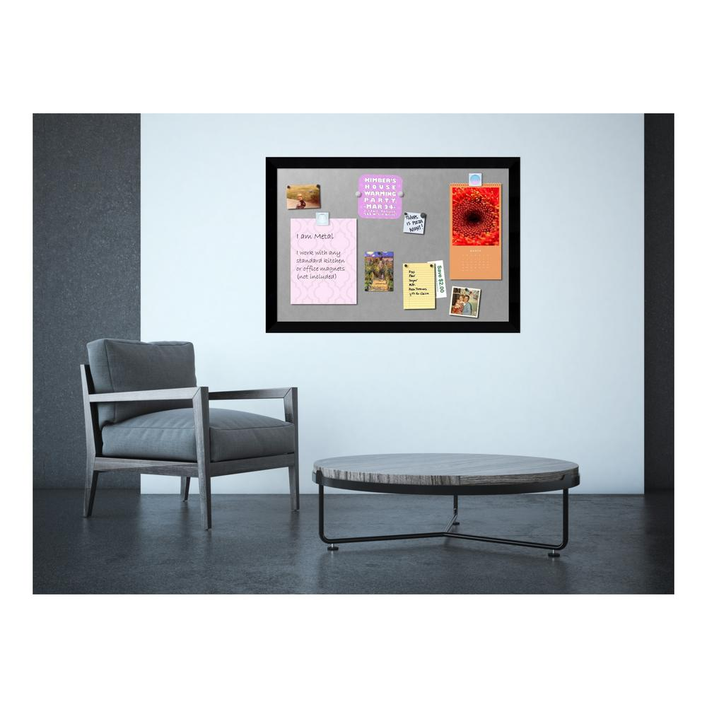 Amanti Art 39 in. x 27 in. Mezzanotte Black Wood Framed M...