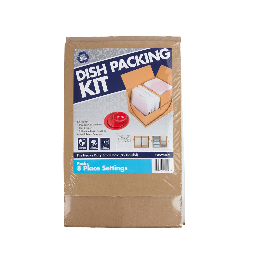 Pratt Retail Specialties Dish Packing Kit (8-Pack)