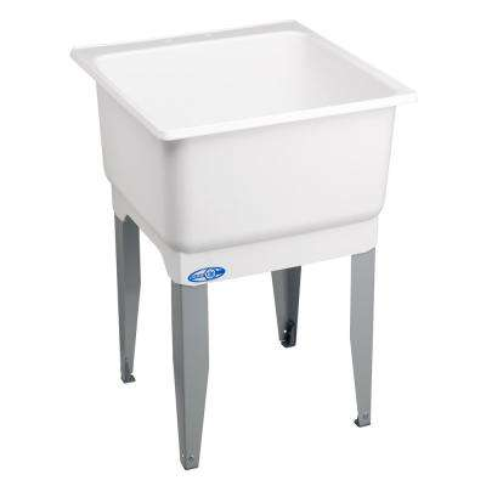 Utilatub 23 in. x 25 in. Polypropylene Floor Mount Laundry Tub