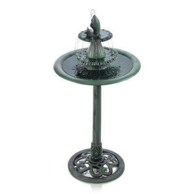 3-Tiered Pedestal Fountain and Bird Bath with Fish Design