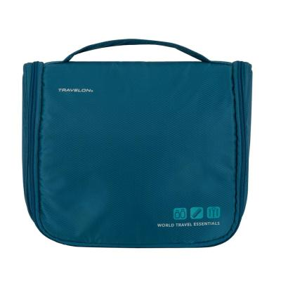 World Travel Essentials Peacock Teal Hanging Toiletry Kit