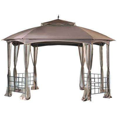 Cardiff 12 ft. x 10 ft. Steel Fabric Gazebo