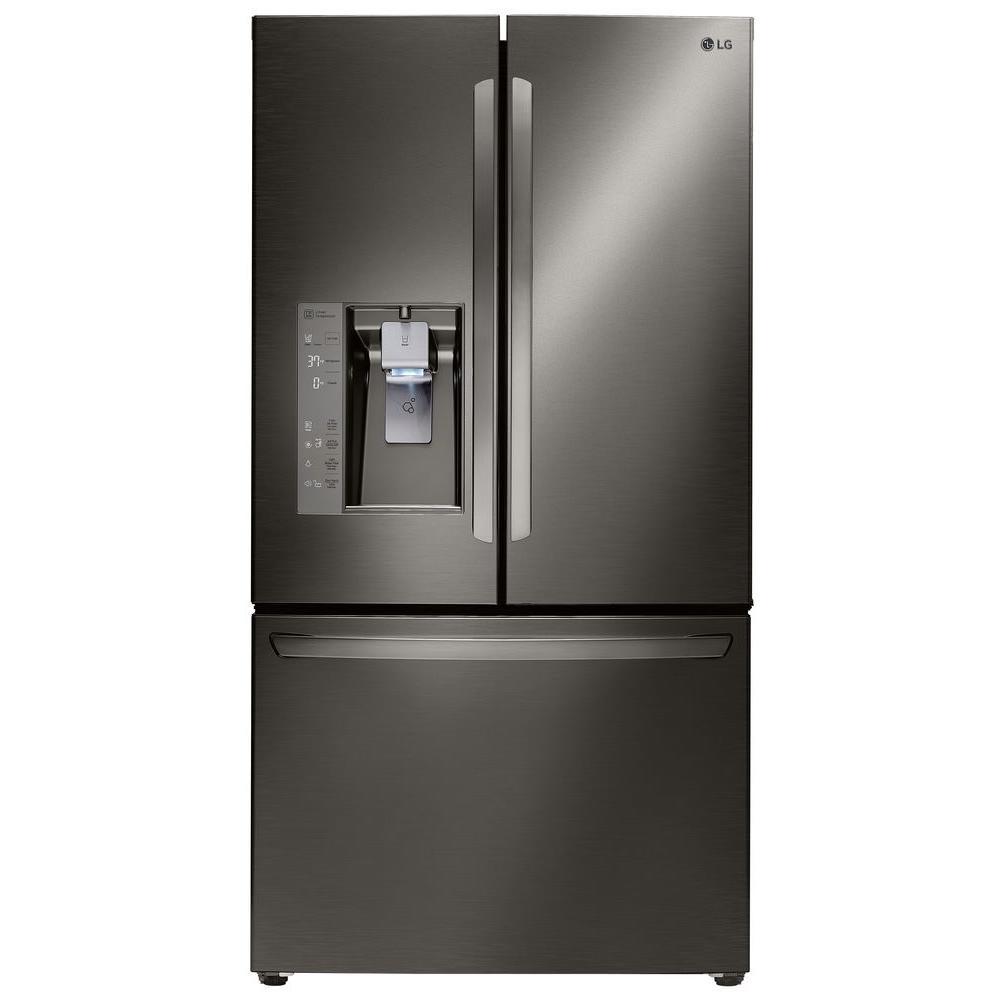 23.7 cu. ft. French Door Refrigerator in Black Stainless Steel, Counter Depth