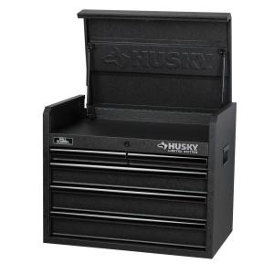 Husky 26 in. 5-Drawer Tool Chest, Textured Black-H5CH2LEC - The ...
