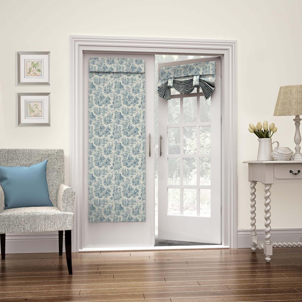 26 in. W x 68 in. L Charmed Life French Door Window Panel in Cornflower