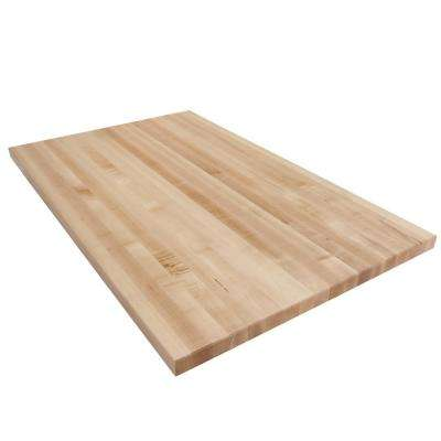 4 ft. L x 2 ft. 6 in. D x 1.75 in. T Butcher Block Countertop in Finished Maple