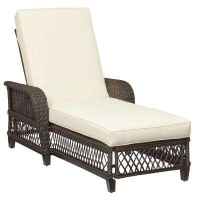 Woodbury Custom Wicker Outdoor Chaise Lounge with Cushions Included, Choose Your Own Color