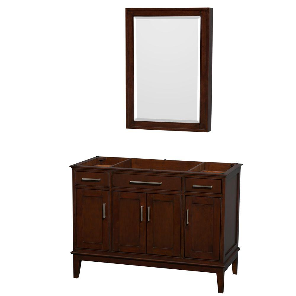 Hatton 47 in. Vanity Cabinet with Mirror Medicine Cabinet in Dark