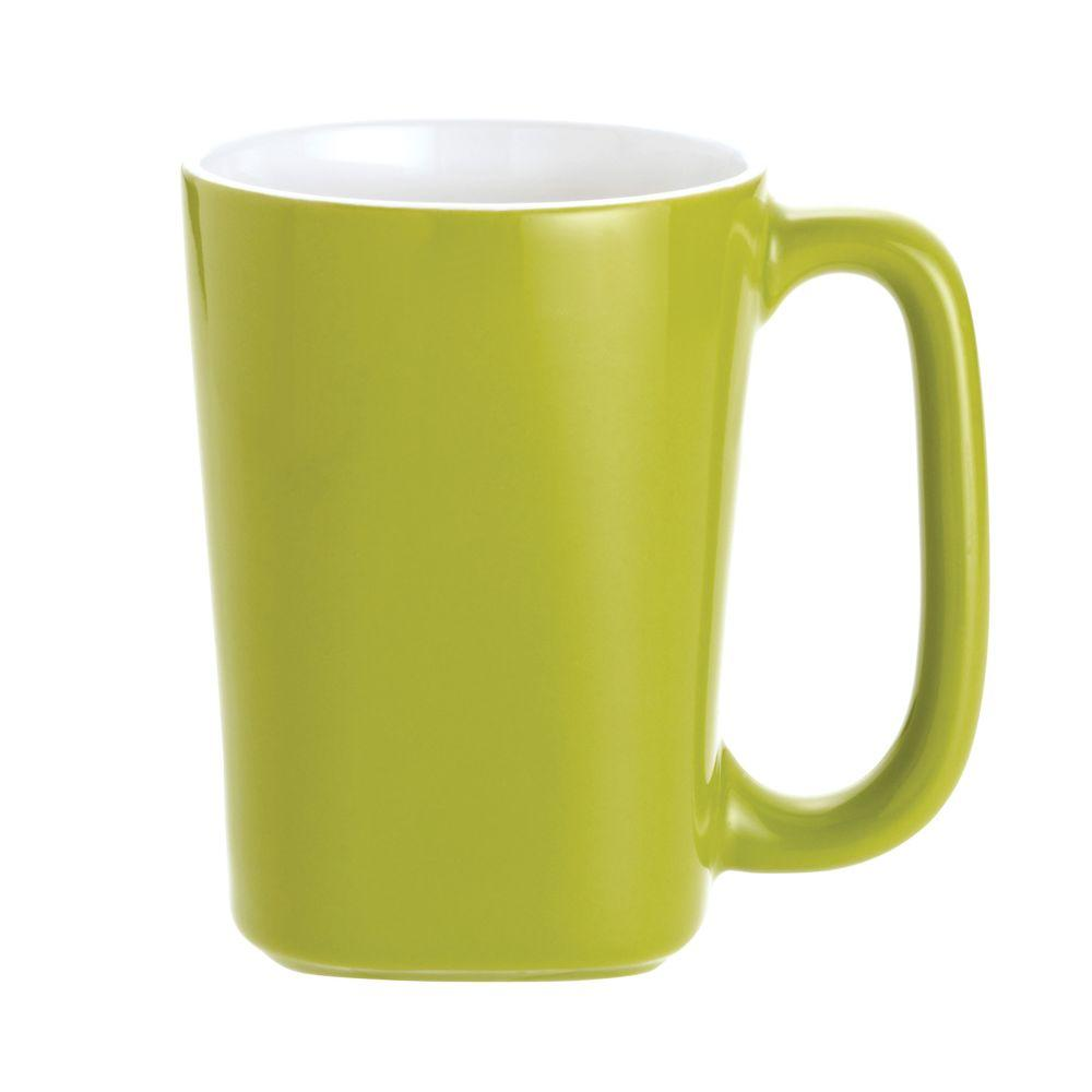 Rachael Ray Round and Square 4-Piece Mug Set in Green Apple