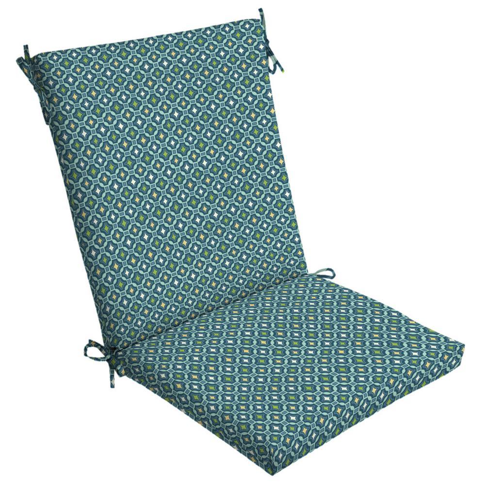 20 x 20 Alana Tile High Back Outdoor Dining Chair Cushion