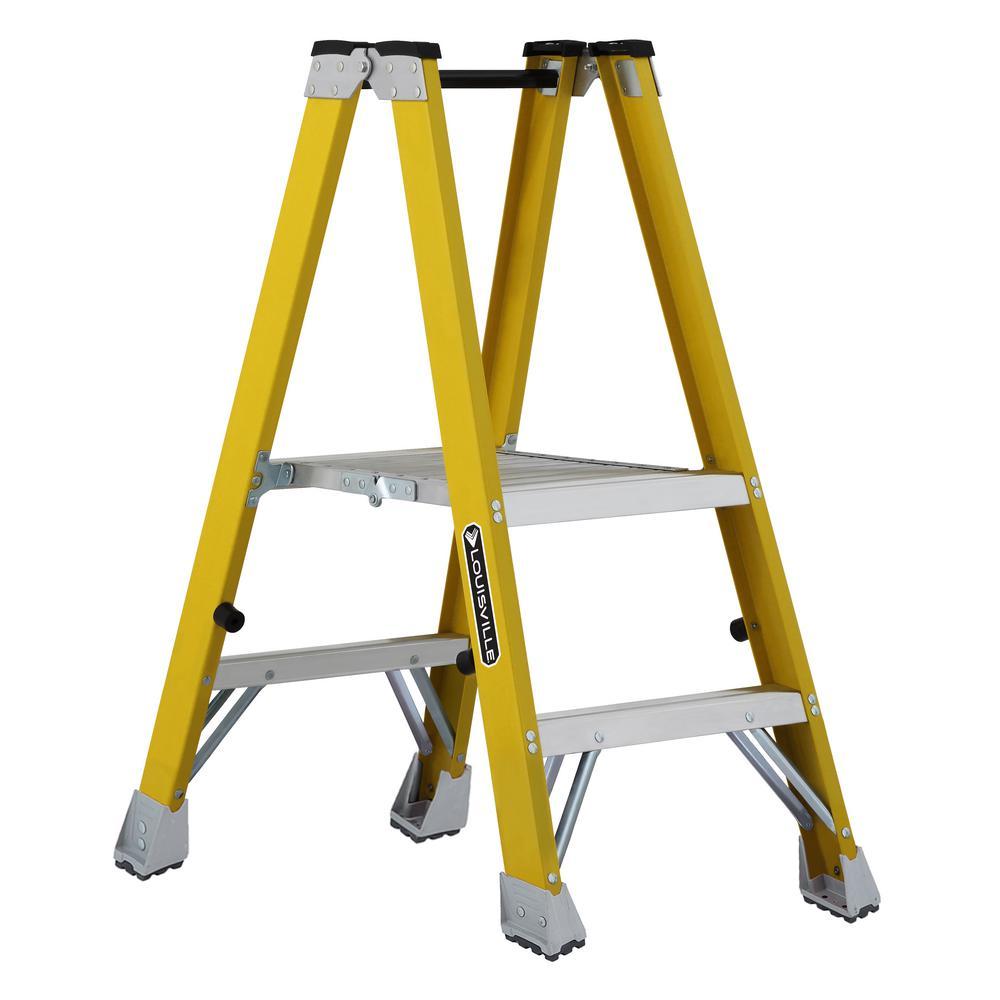 2 ft. Fiberglass Platform Step Ladder 8 ft. $80.00  Save $95.68 (54%)