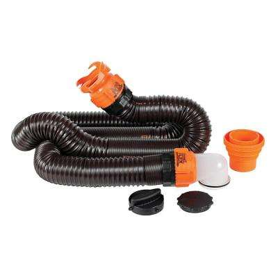RhinoFLEX 15 ft. Sewer Hose Kit with Swivel Fittings