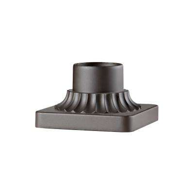 3 in. Oil Rubbed Bronze Outdoor Die-Cast Aluminum Pier Mount Base