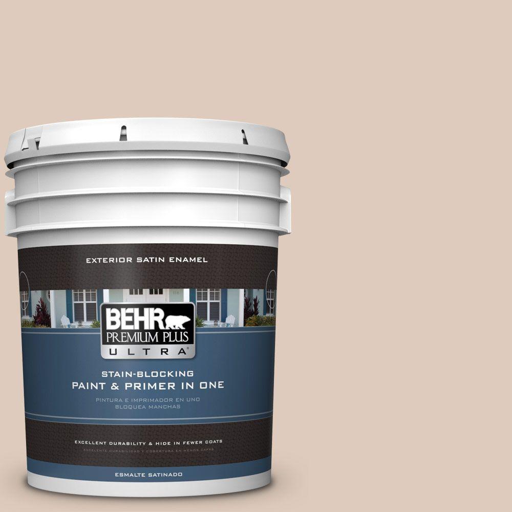 BEHR Premium Plus Ultra 5-gal. #250E-2 Pebbled Courtyard Satin Enamel Exterior Paint