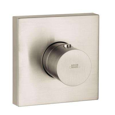 Axor Starck 1-Handle Thermostatic Valve Trim Kit in Brushed Nickel (Valve Not Included)