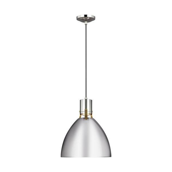 Brynne 14-Watt Integrated LED Polished Nickel Pendant