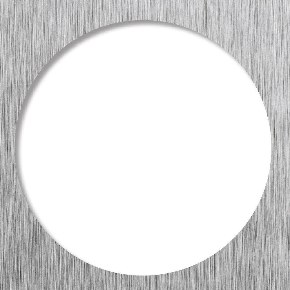 Tile Redi 5.75 in. x 5.75 in. Square Drain Plate Trim in Brushed Nickel
