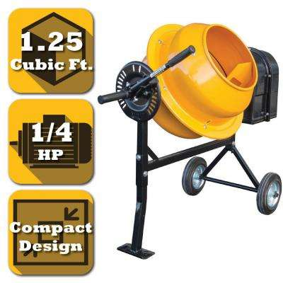 1.25 cu. ft. 1/4 HP Electric Cement and Concrete Mixer