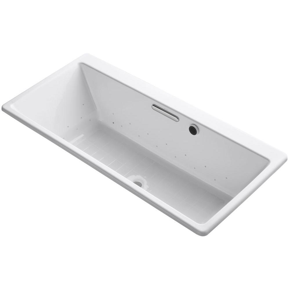 Reve 5.5 ft. Air Bath Tub in White