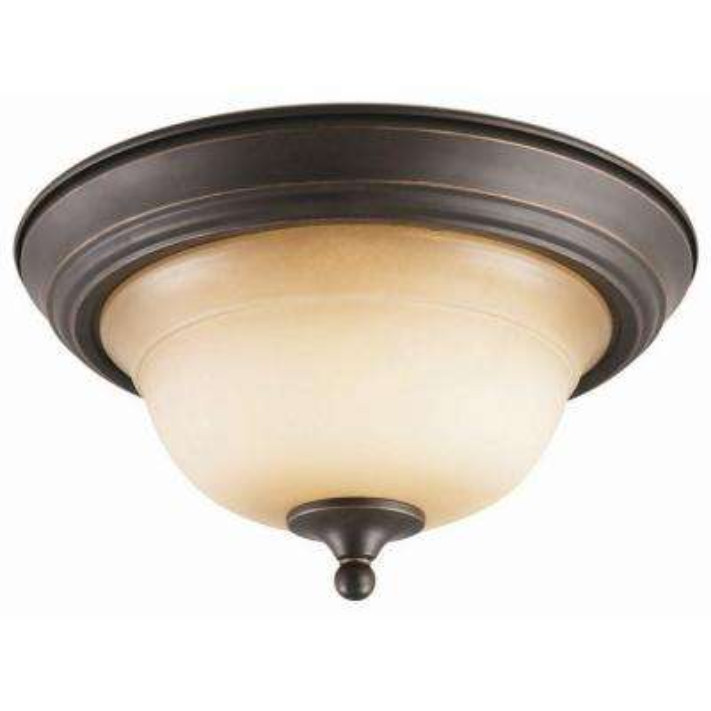 Cameron 2-Light Oil Rubbed Bronze Ceiling Mount Light