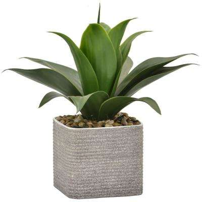 13.5 in. Faux Grass in Flower Pot