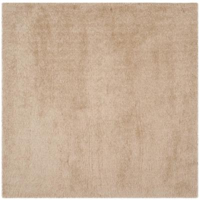 Venice Shag Champagne 6 ft. x 6 ft. Square Area Rug