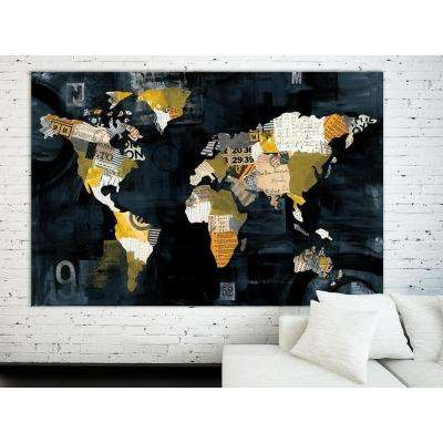 "48 in. x 72 in. ""Golden World"" by Courtney Prahl Printed Framed Canvas Wall Art"
