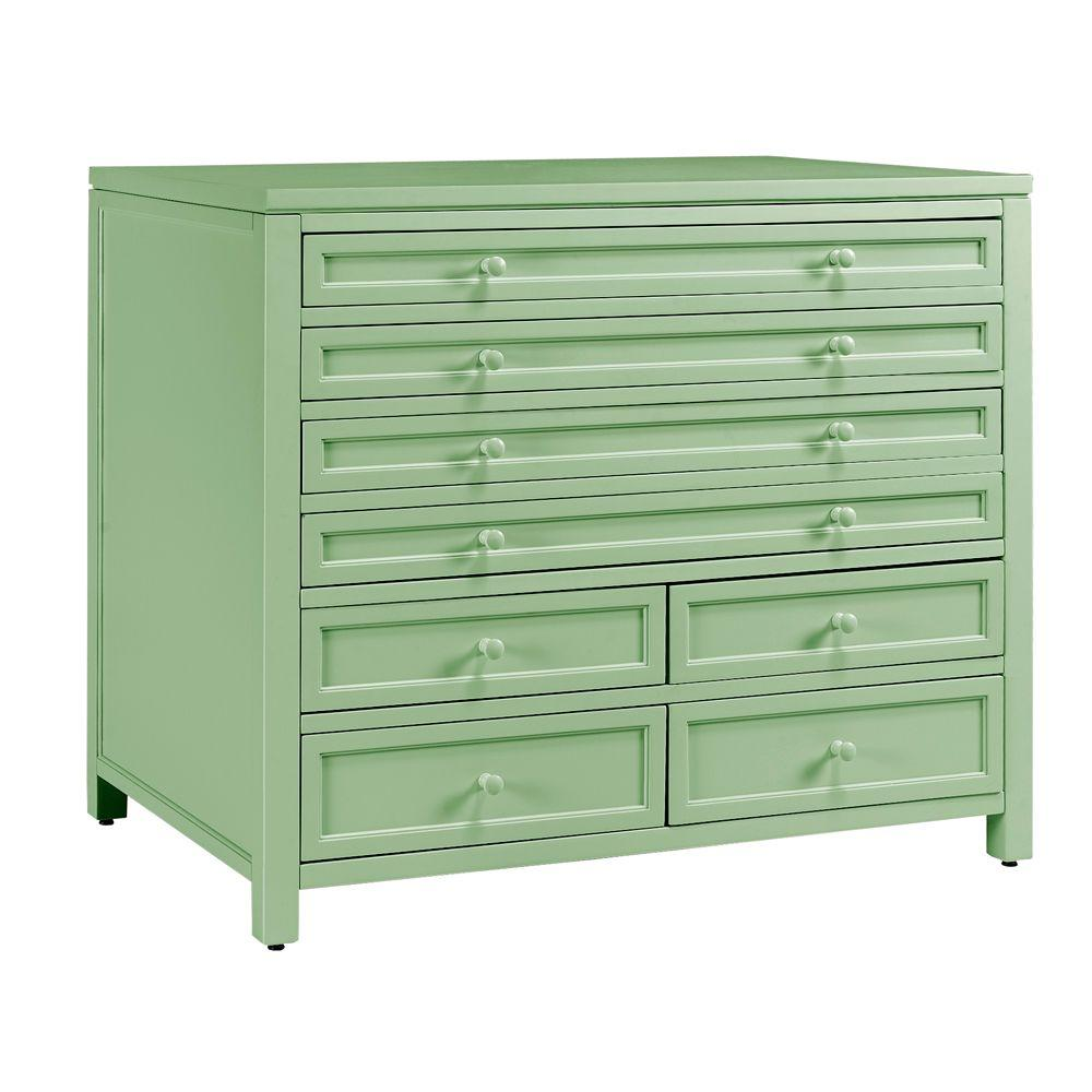 Delightful Craft Space 8 Drawer Flat File Cabinet Storage Dividers Rhododendron Leaf  42 In.
