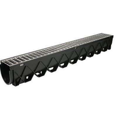 Storm Drain 40 in. Channel Complete with Galvanized Grate