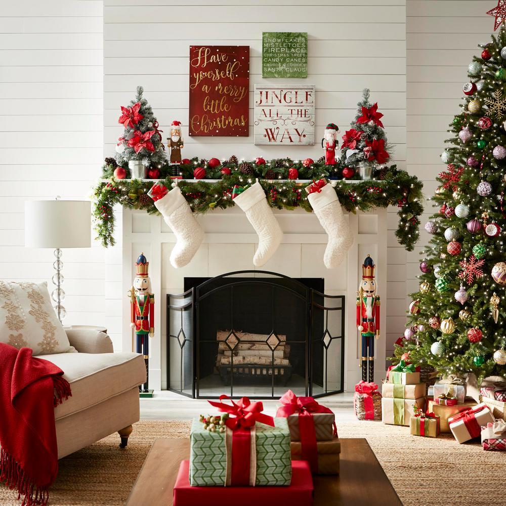 Christmas Fireplace Screen.Pleasant Hearth Diamond Espresso Steel 3 Panel Fireplace Screen