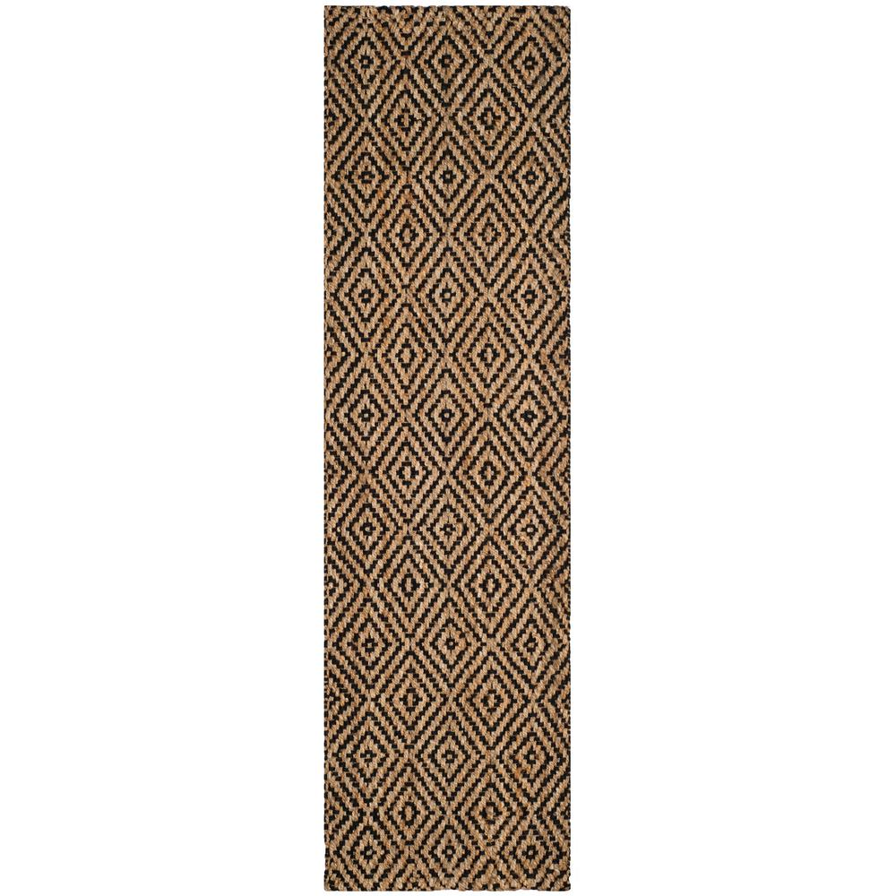 Safavieh Natural Fiber Beige Black 2 Ft 3 In X 14 Ft