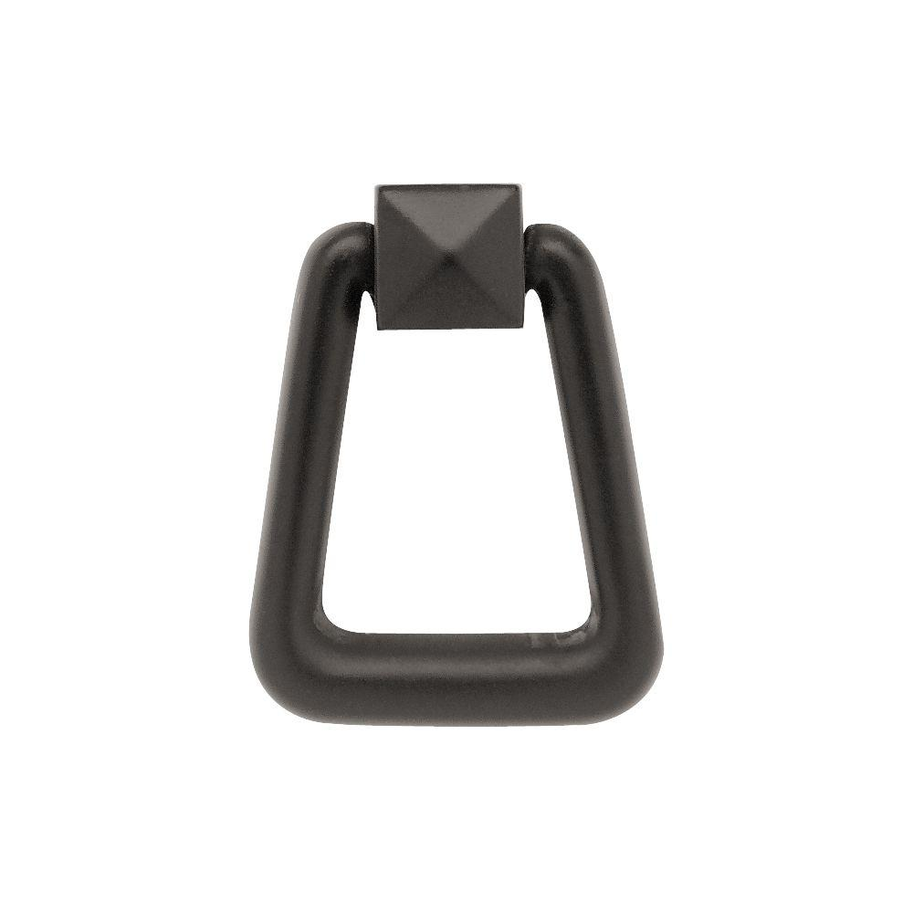 Mission Style 3-1/4 in. (82mm) Flat Black Ring Pull