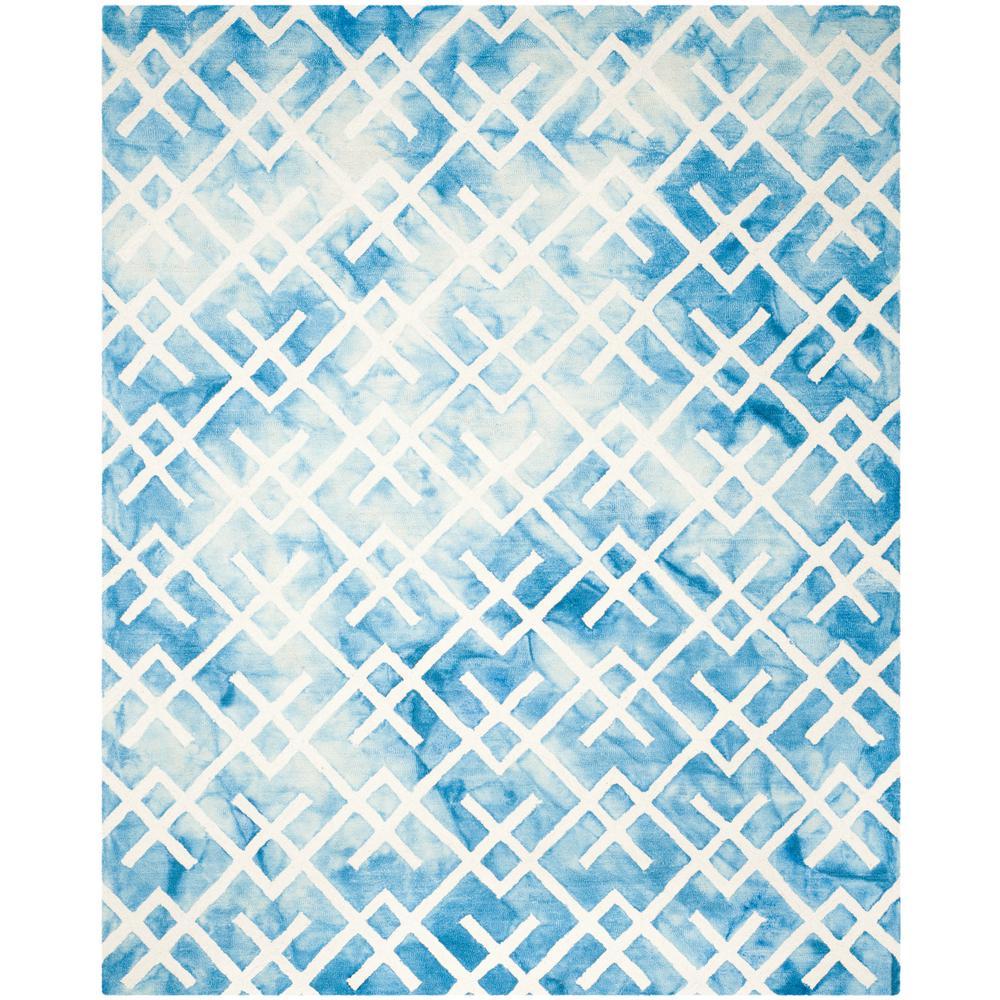 Dip Dye Blue/Ivory 9 ft. x 12 ft. Area Rug