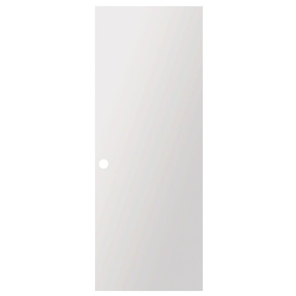 Steves Sons 24 In X 80 In Flush Hollow Core Primed White Pre Bored Composite Interior Door