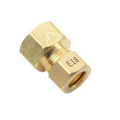1/2 in. Fem O.D. x 3/8 in. O.D. Lead-Free Brass Compression Adapter