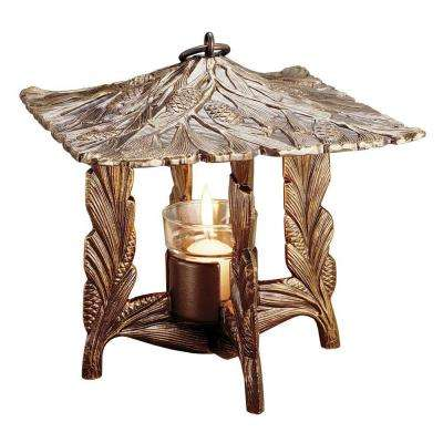 French Bronze Pinecone Twilight Lantern