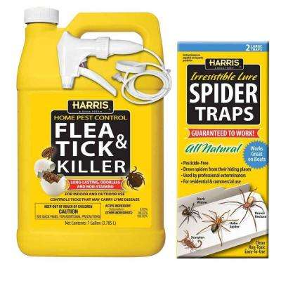 Flea and Tick Killer and Spider Trap Value Pack