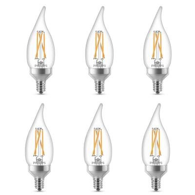 40-Watt Equivalent B11 Dimmable LED Light Bulb in Soft White (6-Pack)