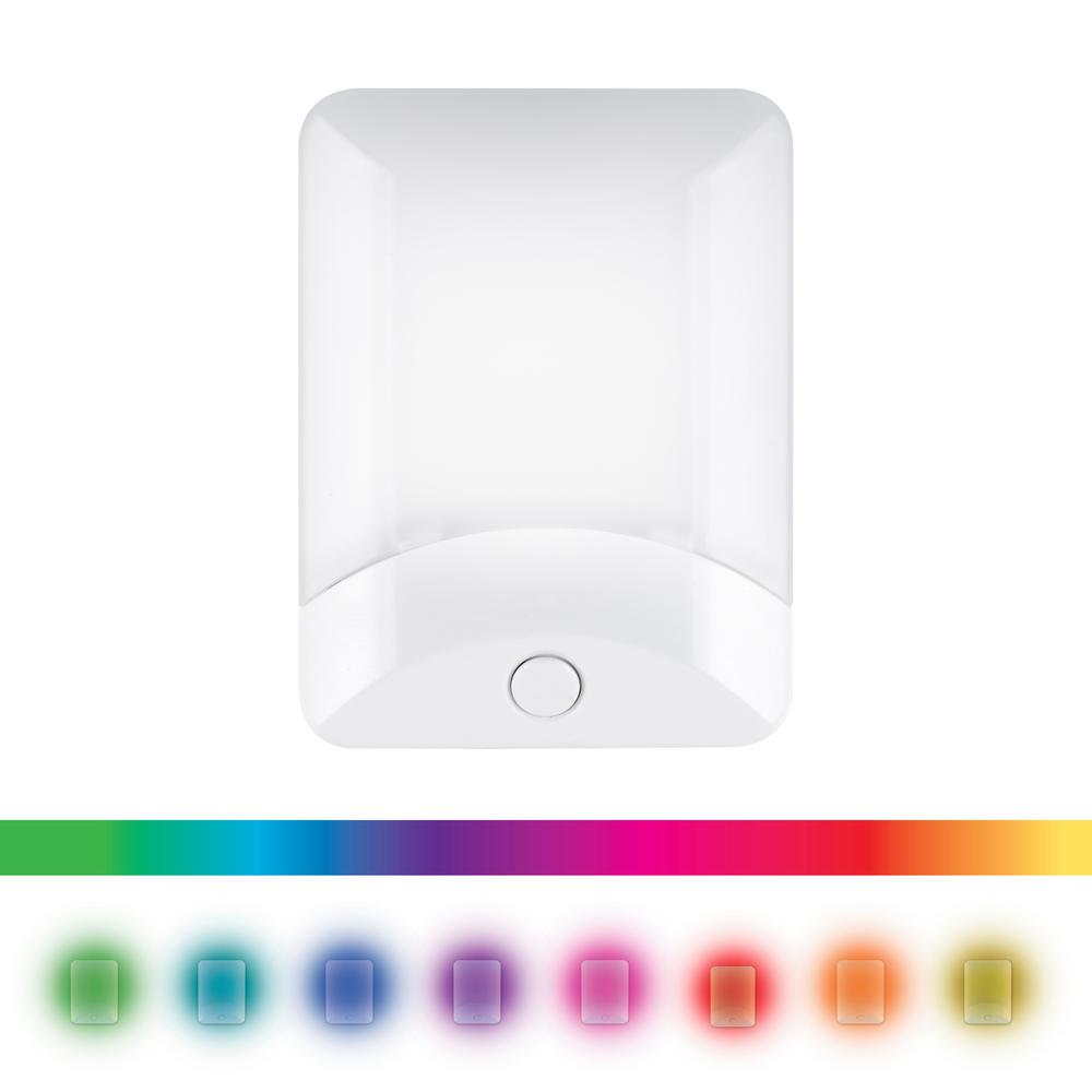 Ge Color Changing Led Night Light White 34693 The Home Depot