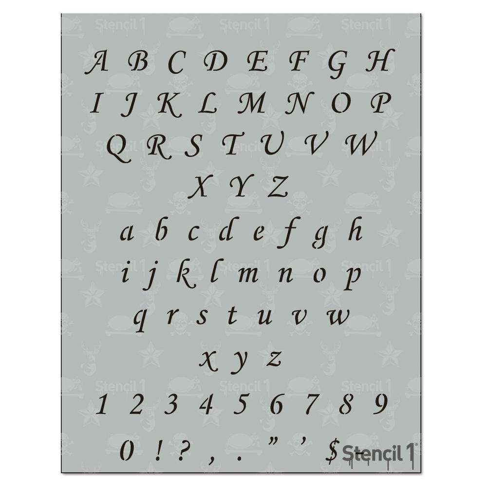 0.5 in. Corsiva Font Stencil