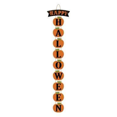 28 in. x 4.125 in. Halloween Deluxe Vertical Sign (2-Pack)