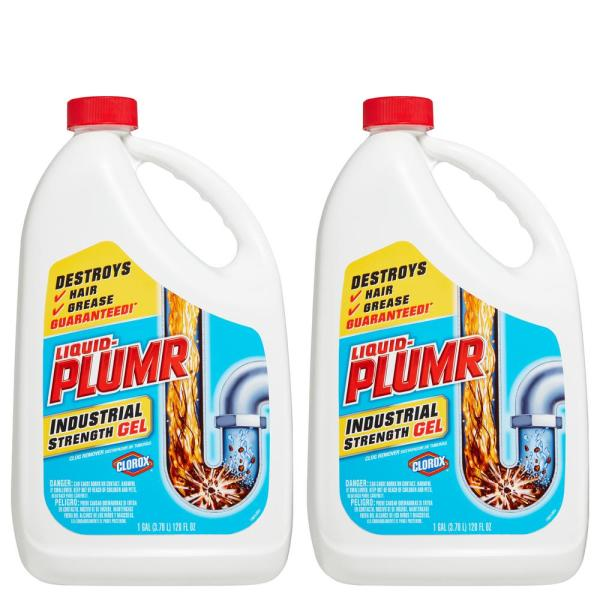 128 oz. Industrial Strength Gel Drain Cleaner and Drain Unclogger (2-Pack)