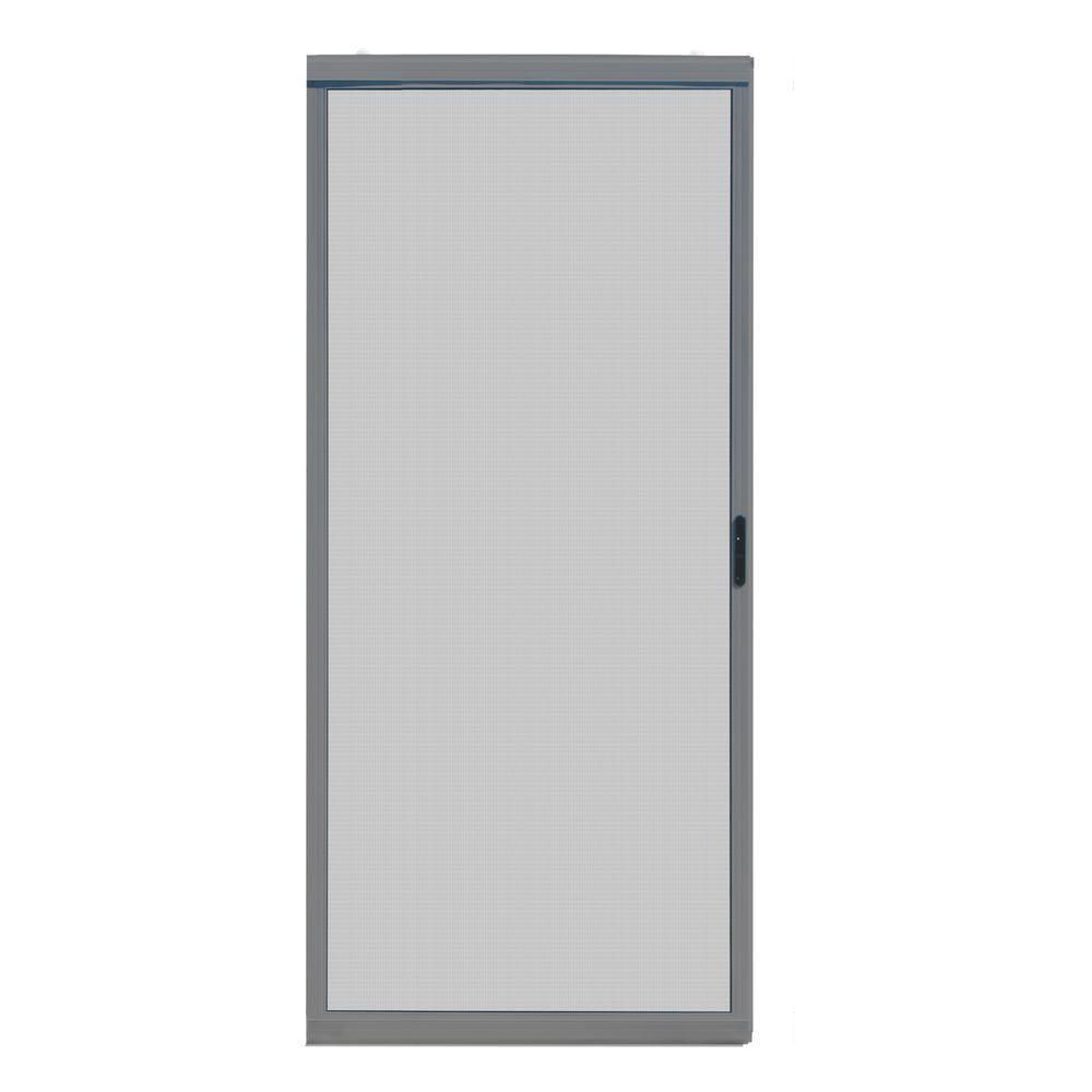 30 in. x 80 in. Ultimate Grey Metal Sliding Patio Screen