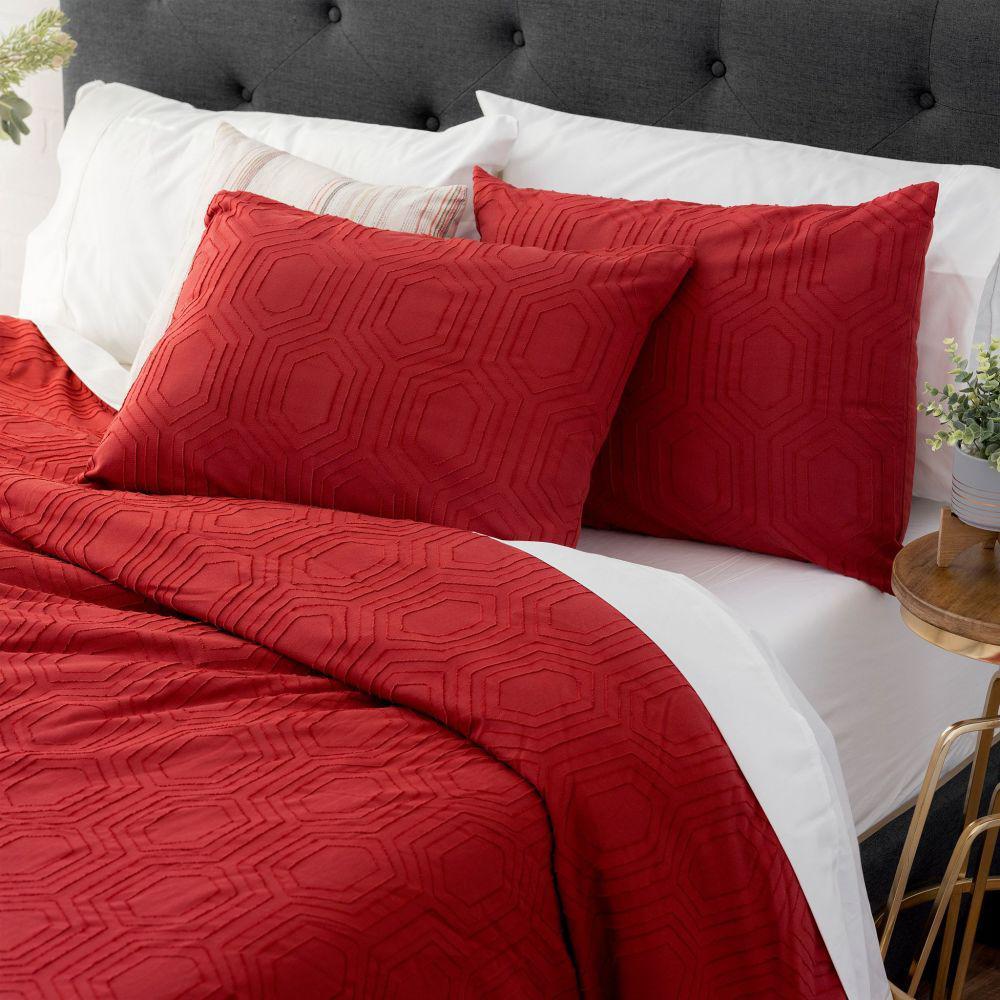 The Sahara Cotton Red King Comforter Set
