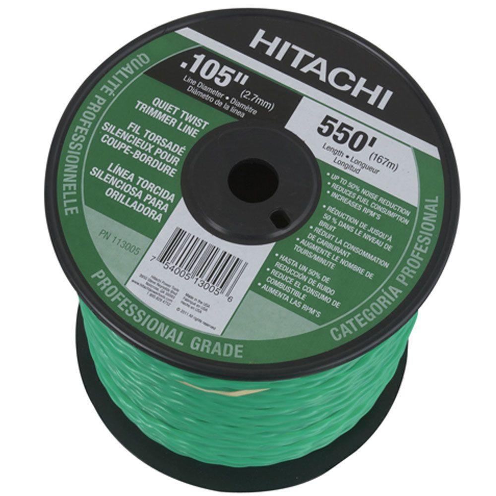Hitachi 550 ft. Medium Spool Quiet Twist Trimmer Line