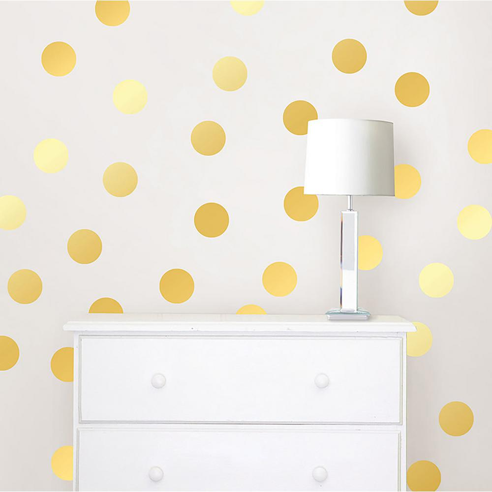 Wallpops Gold Confetti Dots Wall Decal Set Twpd1642 The Home Depot