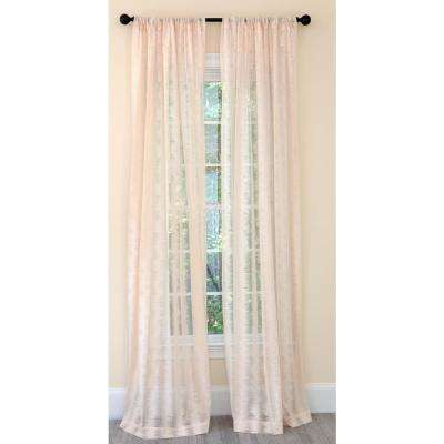Bella Single Panel Sheer Rod Pocket Curtain in Champagne - 54 in. x 120 in.