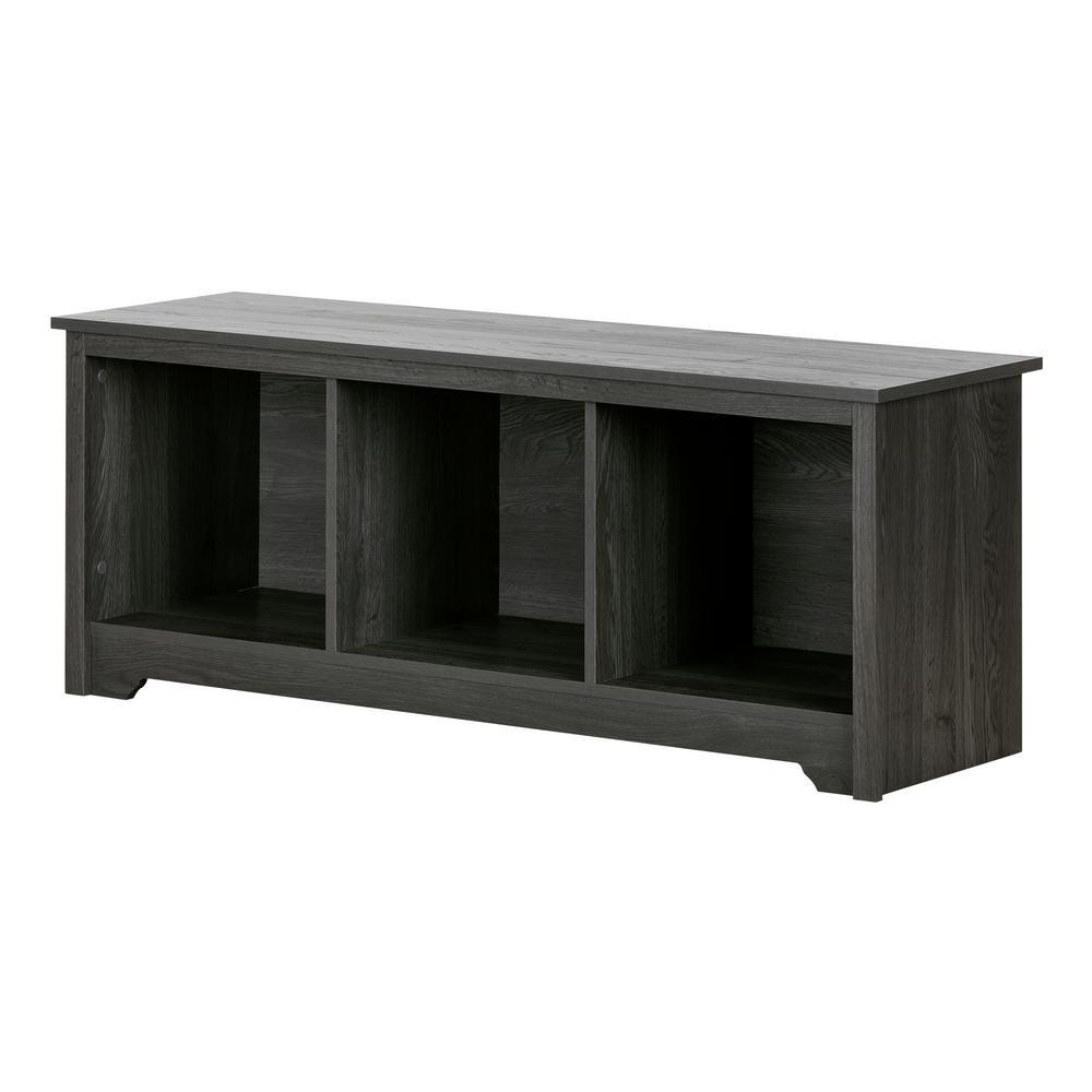 Vito Gray Oak Storage Bench